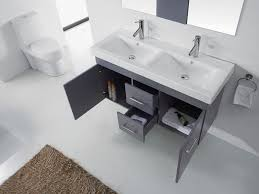 gray double sink vanity. virtu usa 48\ gray double sink vanity