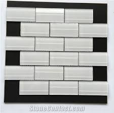 interior decoration multicolor 3d glass mosaic tile bathroom wall tile