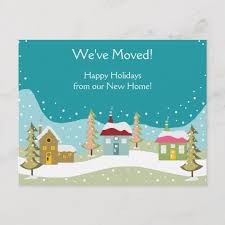 Holiday Moving Announcement Postcards Zazzle Com
