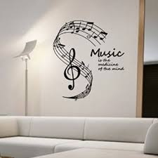 music notes wall decal vinyl art home decor medicine of the mind quote on wall decal vinyl art stickers decor with music notes wall decal vinyl art home from amazon
