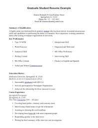 Cover Letter Sample Resume Student Good Student Resume Sample