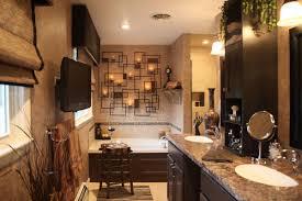 lighting idea. Under Mount Sinks And Granite Vanity Countertop Feat Romantic Bathroom Lighting Idea Plus Alcove Bathtub Design