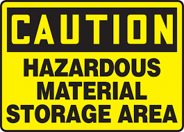 Image result for storage materials signs