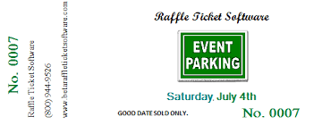 raffle software with raffle ticket software you can also make parking passes