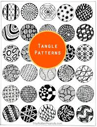 Tangle Patterns Unique Inspired By Zentangle Patterns And Starter Pages Craftwhack