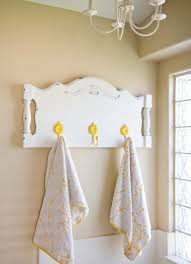 towel hanger ideas. Turn A Headboard Into Towel Rack Hanger Ideas