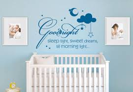 wall words  on wall decal quotes for nursery with goodnight sleep tight wall decal quote nursery vinyl decor