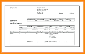 Check Stub Template Free Download Paycheck Pay Stub Template Free Doc Download A With Printable Stubs
