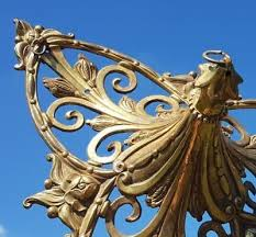 stunning unique large antique french bronze ormolu ceiling rose for chandelier