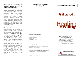 spiritual gifts healing