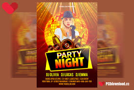 Free Party Flyer Templates Free Night Party Flyer Psd Template Freedownloadpsd Com