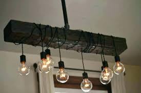 chandelier edison bulbs handmade pipe