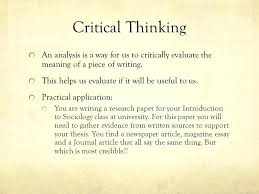 essay on thinking tags critical thinking essays creative thinking  essay on thinking critical thinking an analysis is a way for us to critically evaluate the essay on thinking critical