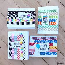 Diy Kids Birthday Card Birthday Card Ideas Handmade With Washi Tape Darice