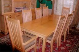 tiger maple dining room set custom madetiger maple dinning room