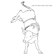 Small Picture Bucking Bull Coloring Page Learning Support Resources