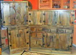 Rustic Kitchen Cabinets Hand Made Rustic Kitchen Cabinets By The Bunk House Custommadecom