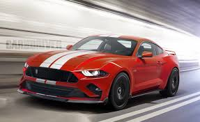 ford mustang top view. new design 2019-2020 ford mustang gt500 front view top