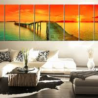 large art sea and red sunset extra large wall art canvas print large seascape ocean on extra large ocean wall art with best large beach canvas art products on wanelo
