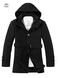 fashion autumn winter trench coat men long thicken wool coats mens overcoat warm windbreaker male jackets