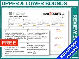 upper and lower bounds gcse revision