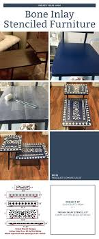 cutting edge furniture. cutting edge stencils shares diy stenciled furniture makeovers using the indian inlay stencil kit for a m