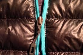 down jacket seperating zipper