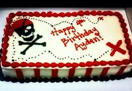 Simple Pirate Themed Birthday Ice Cream Cake My Creations