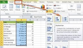 Gantt Chart Excel 2007 Tutorial How To Make Gantt Chart In Excel Step By Step Guidance And