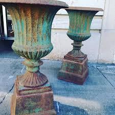 antique cast iron garden urns antique
