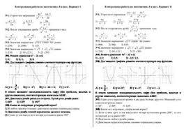 Мониторинг математика класс doc Итоговая контрольная работа  Итоговая контрольная работа по математике за i четверть 8 класс