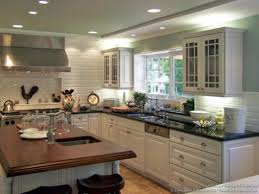 White Kitchen Cabinet Dark Countertop White Appliance Very Fresh
