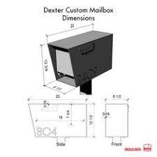 mailbox flag dimensions. Wonderful Flag The Dexter Mailbox  Custom With Flag Dimensions R
