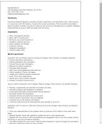 Resume Templates: Assistant Registrar