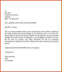 Letter Of Recommendation Student Sample Letters Of Recommendation For A Student Barca