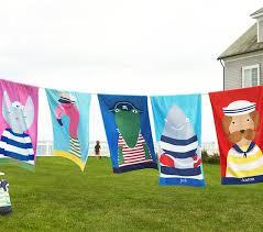 Nantucket Flamingo Beach Towel Pottery Barn Kids