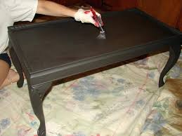 candle wax chalk paint coffee table black