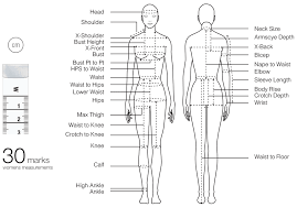 Tape Measure Sewing Techniques Body Measurement Chart