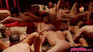 Sexy amateur couple tries a swinger club for the first time on.