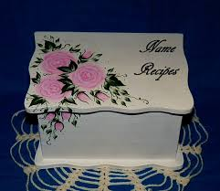 Decorative Recipe Box Hand Painted Personalized Wood Recipe Box Decorative Custom 42