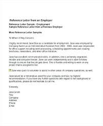 Job Recommendation Letter Sample Template Doctor Free Example Format