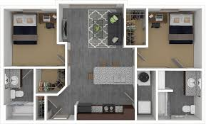 2 bedroom 2 bathroom. furnished rendering of the den\u0027s 804 square foot 2 bedroom, bathroom floor bedroom o