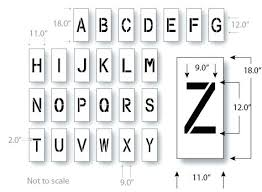 Lettering Stencils To Print Full Page Letter Stencils Printable Stencil Letters Free Printable