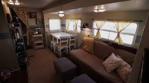 Travel trailers interior 2016 How We Renovated Our Travel Trailer Then Moved Into It Full Time Campers Inn Rv Blog How We Renovated Our Travel Trailer Then Moved Into It Full Time