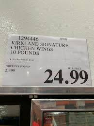 Shop low prices on groceries to build your shopping list or order online. Costco Chicken Wings Kirkland Signature 10 Lbs Costco Fan