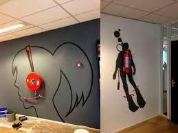 peaceful creative office space. Cool Design Creative Wall Art 12 Ideas Creating A Statement East Coast Stencil Walls 2 For Office Pune Peaceful Space