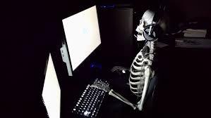 patient skeleton gamer meme template
