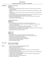 Fabricator Resume Samples Velvet Jobs