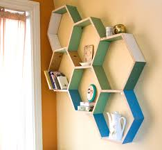 these honeycomb shelves came our way at a perfect time not only do they satisfy my need for cheerful spring colors but they also provide a great storage