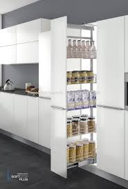 tall pull out basket modular kitchen cabinet